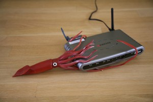 squid eating a router!!!